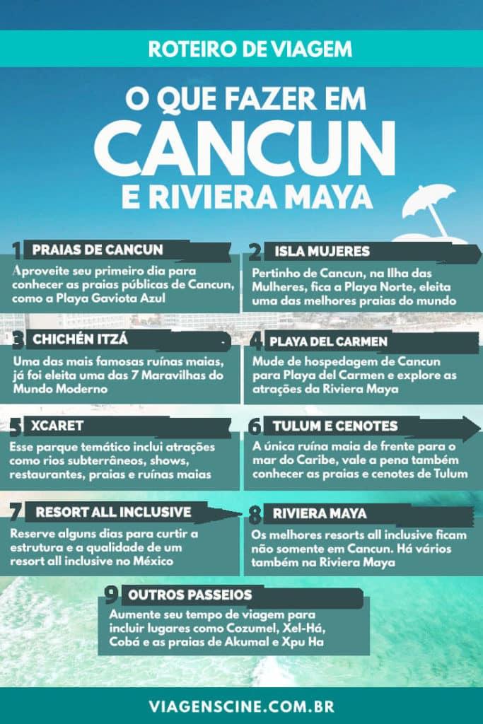 O que fazer em Cancun e Riviera Maya - Roteiro de Viagem de 5, 7 ou 15 dias