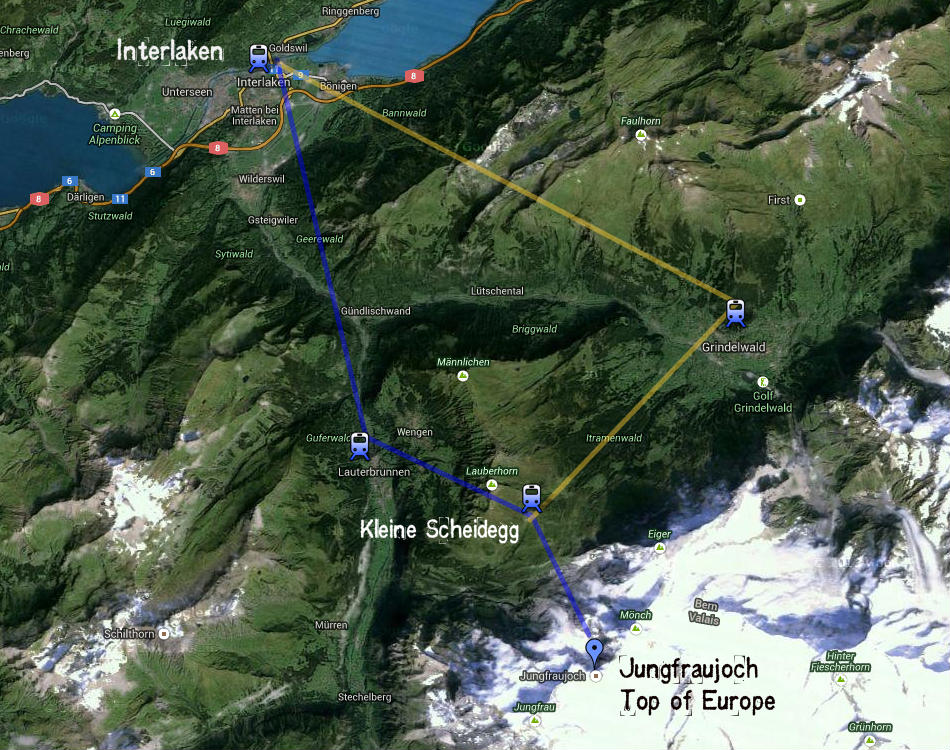 Jungfrau Suíça - Topo da Europa