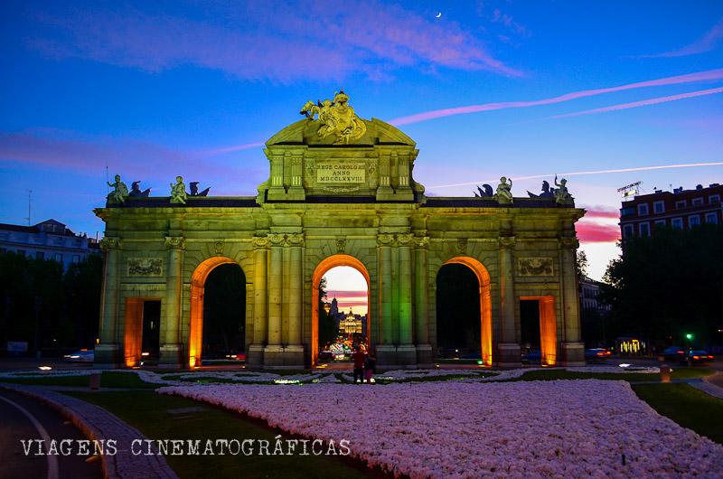 Pôr do Sol em Madri Puerta de Alcalá