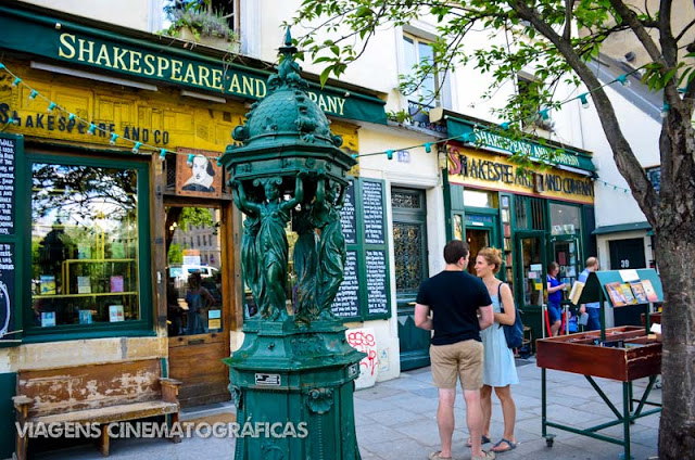 Paris e a livraria Shakespeare and Company
