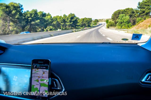 Viajando de carro pela Provence