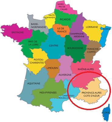 Mapa Provence