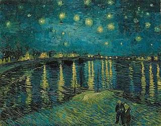 """Vincent Van Gogh: """"Noite estrelada sobre o Rio Rhône"""" (1988, Musée d'Orsay)"""