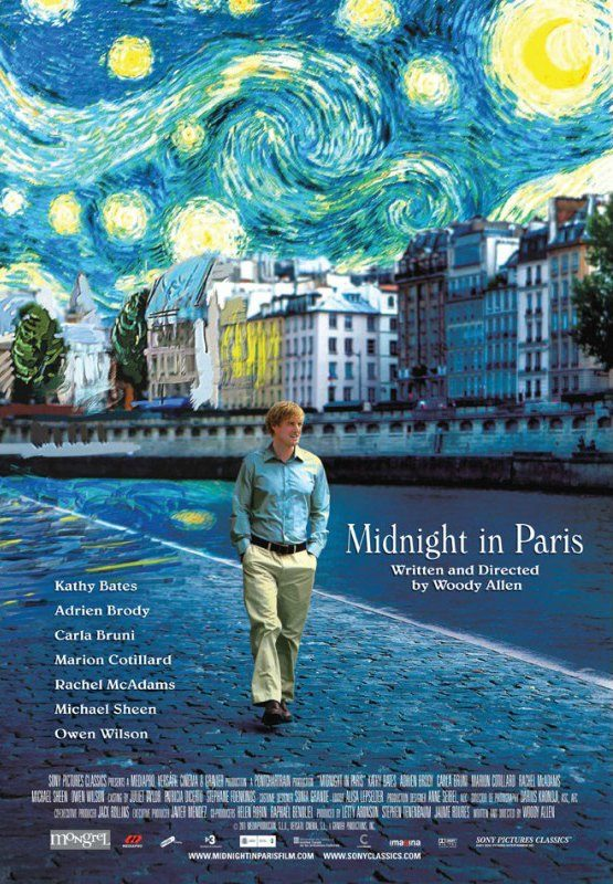 Os 10 Melhores Filmes de Viagem - França e Itália: Meia Noite em Paris, filme de Woody Allen