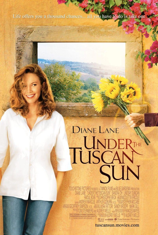 """Cartaz do filme """"Sob o Sol da Toscana"""", que inspirou nossa viagem na Toscana"""