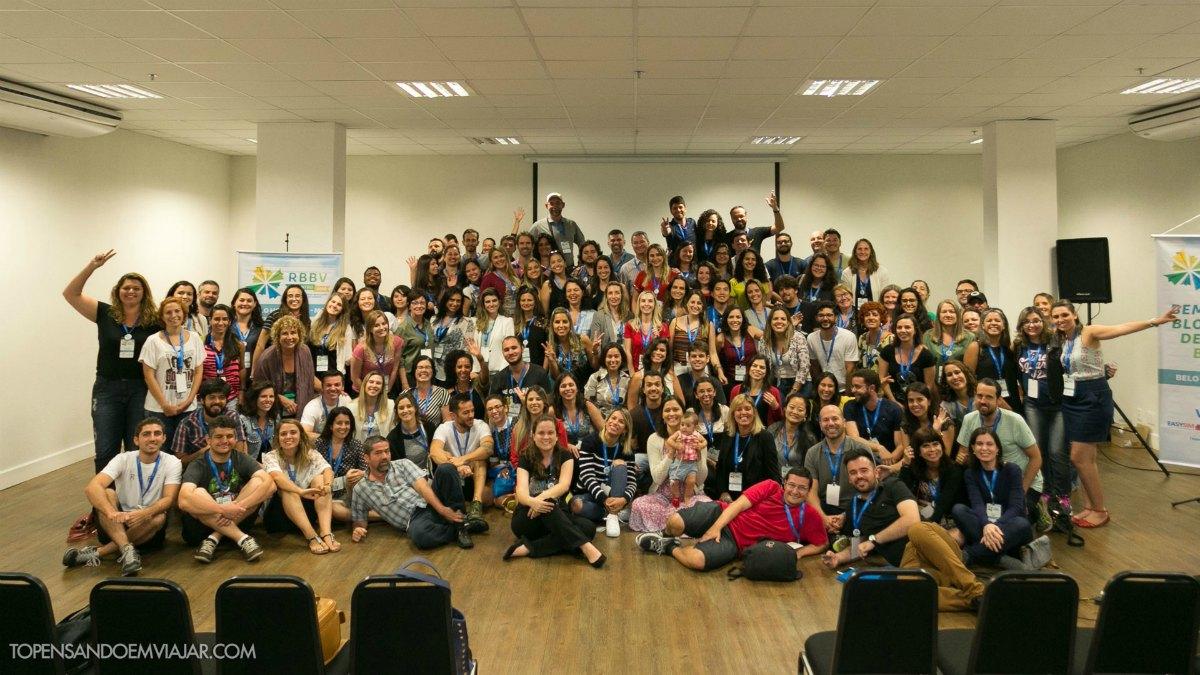 Foto do grupo todo reunido. Foto: Tô Pensando em Viajar