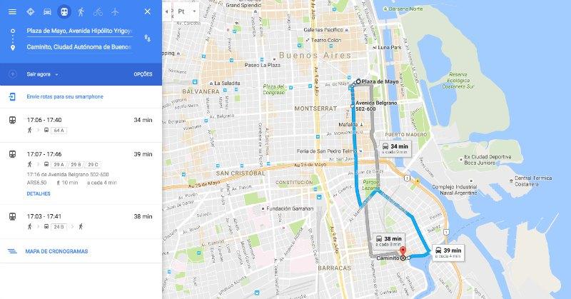 Buenos Aires Dicas Práticas: Mapa de Ônibus