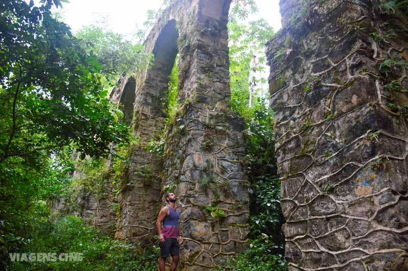 Ilha Grande com Chuva: Circuito Vila do Abraão: Aqueduto