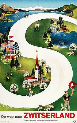Poster por Herbert Leupin, 1939. Crédito: Divulgação Museu do Design de Zurique