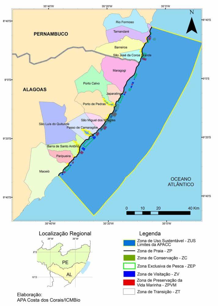 Costa dos Corais: Roteiro de Viagem em Alagoas e Pernambuco. Fonte: APA Costa dos Corais